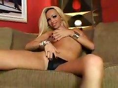 Blonde Tranny Satisfies Dudes Sex Wish