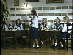 Kitchen Preparation Of Schoolgirls