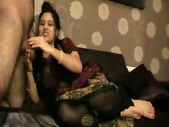 Indian Aunty Giving Foot Blowjob To Her Husband