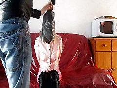 My Wife In Breath Control With Transparent Latex Panties