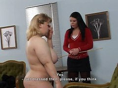 Chubby Girl Receives A Caning