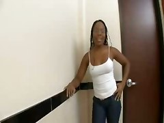 Fuck With Ebony In A Toilet