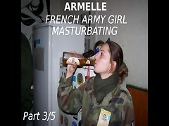 Amateur French Army Girl Armelle - Part 3-5