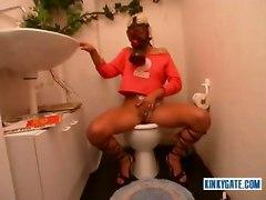 Weird Toilet Masturbation With Gask Mask