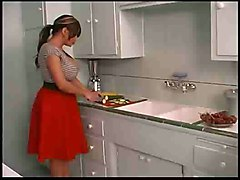 Hot Shemale Masturbating In Kitchen
