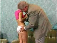 Shy Sexy Teen Satisfies Old Man