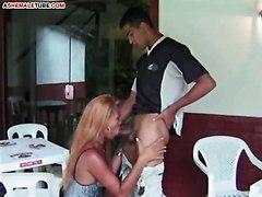 Brazilian Leggy Tranny Is Working