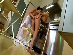 Hot Lesbians In The Kitchen