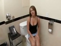 Blow And Fuck On Toilet