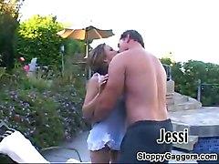 Jessi Gives A Sloppy Blowjob