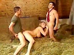 German Blondi Fucking With 2 Boys