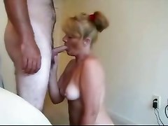 Redhead Milf Sucks And Eats Cum!